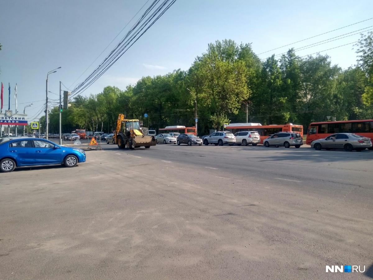 На проспекте Гагарина образовалась многокилометровая пробка