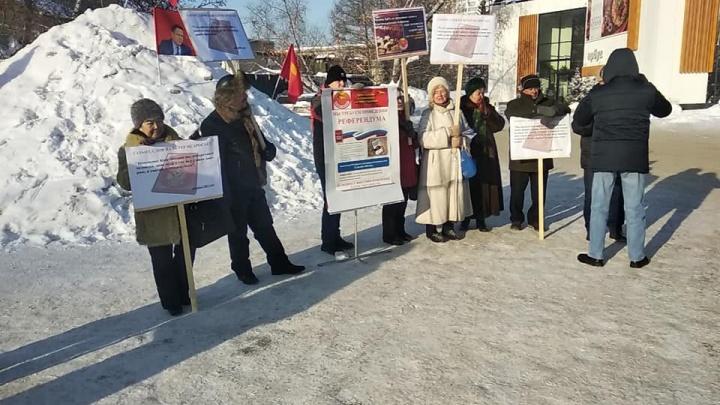 Новосибирцы вышли на улицы протестовать против поправок Путина в Конституцию