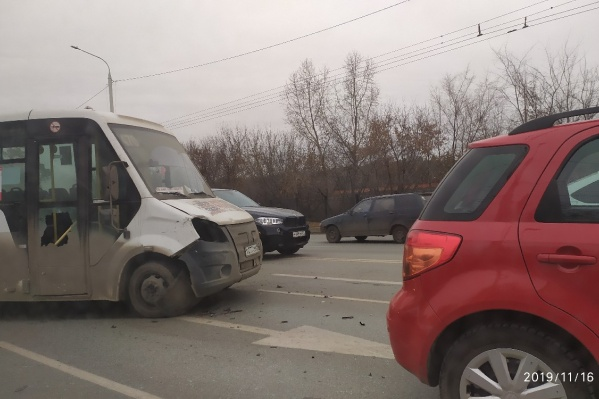 Авария произошла рядом с улицей Берёзовая