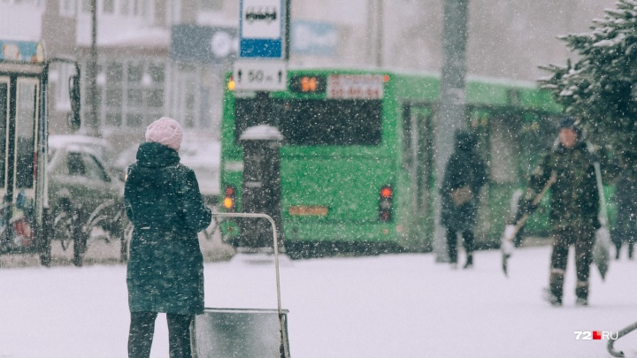 Снегопад и сильный ветер обрушатся на Тюмень в середине недели
