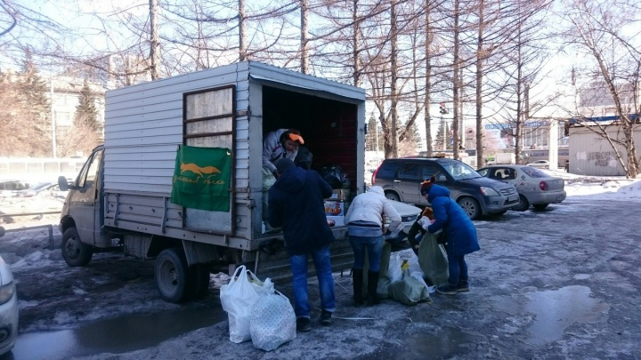 «Зеленая белка» посетила несколько районов Новосибирска