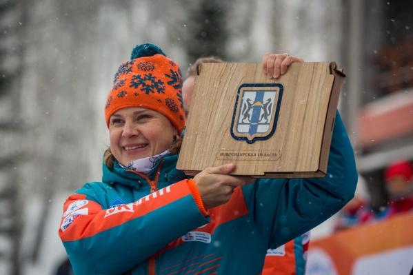 Анна Богалий на открытии своего Кубка