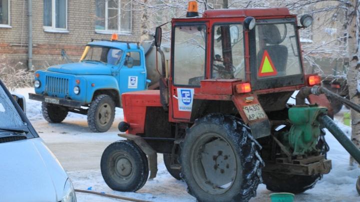 Жители более 90 домов в Архангельске встретили понедельник без воды и тепла