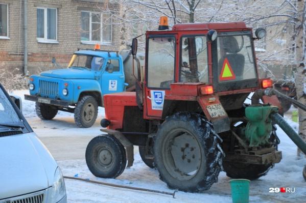 Более 90 домов Архангельска сегодня остались без воды до вечера