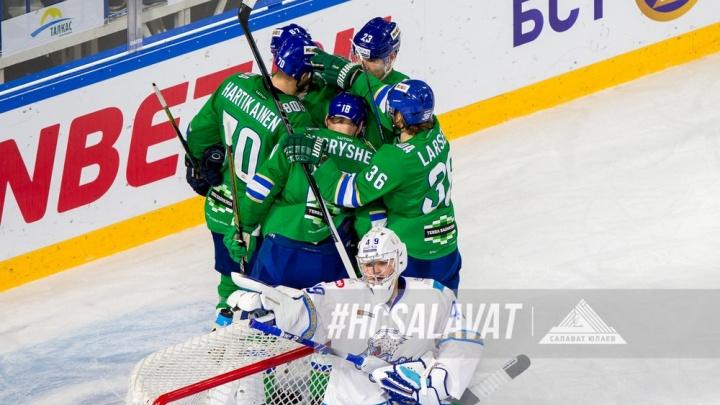 Подергали за усы: «Салават Юлаев» на домашнем льду разгромил астанинский «Барыс»