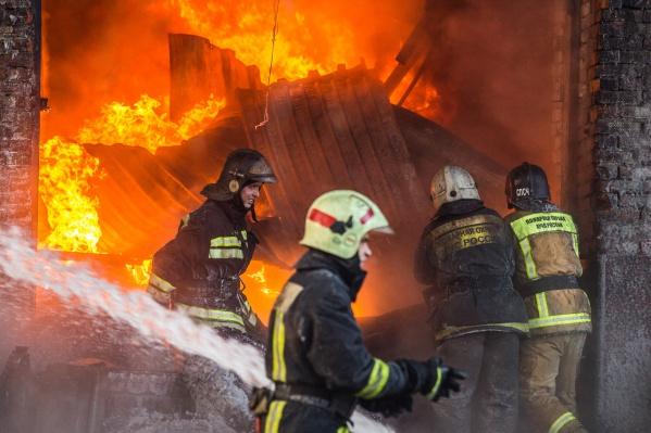 Пожар произошёл ночью в Болотном