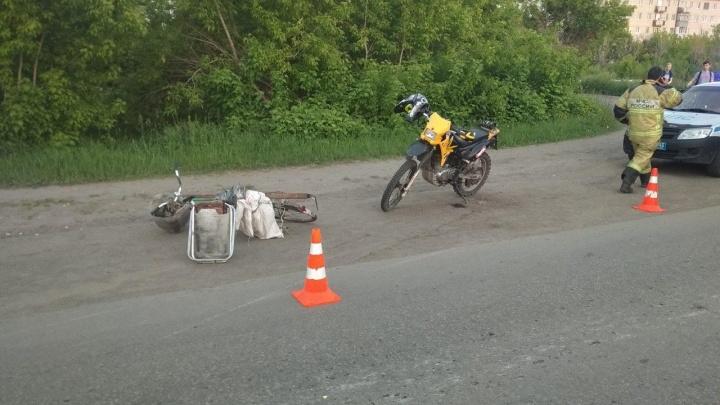На дорогах Курганской области за сутки пострадали три велосипедиста, в том числе ребенок