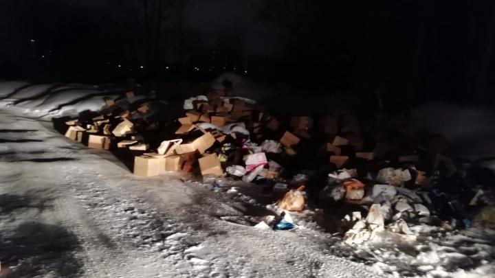 Под мостом через речку в Кировском районе появилась свалка строительного мусора