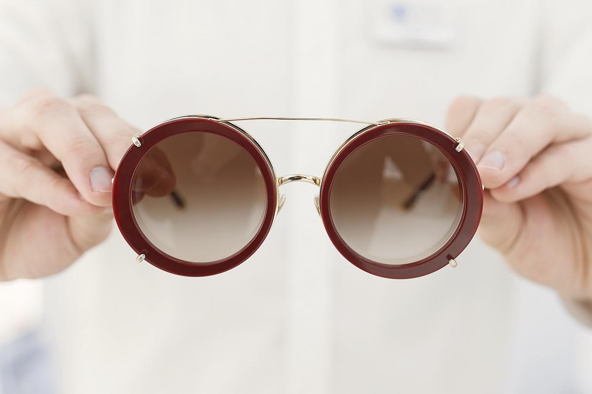 Эта модель от Dolce & Gabbana — очки «три в одном»