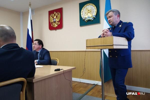 Старший помощник прокурора республики выступил с докладом в Курултае