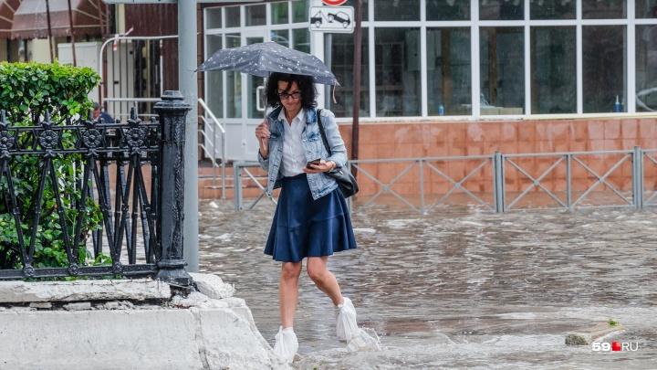 МЧС предупреждает о грозах и граде в Пермском крае