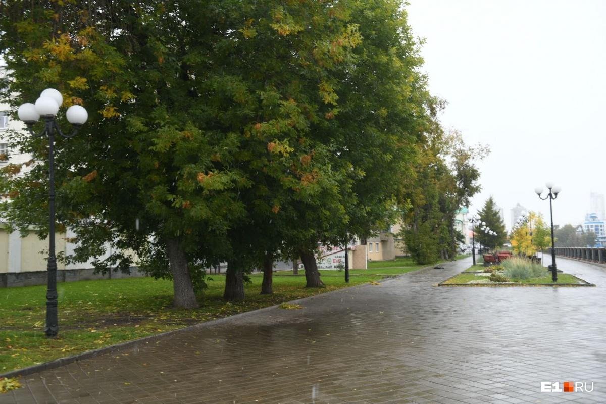 На улице очень мокро