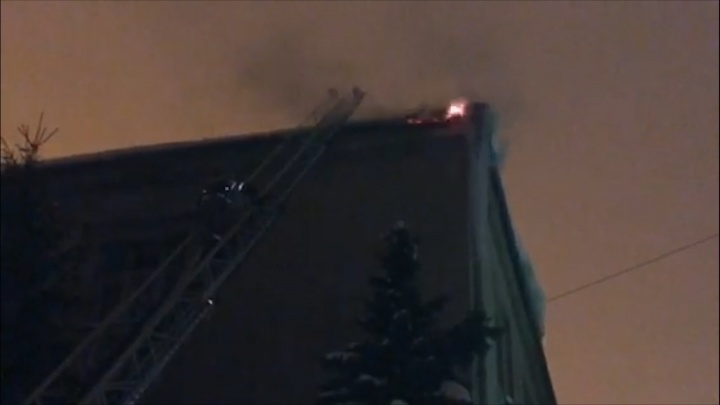 Ночью на заводе «Экран» вспыхнул пожар