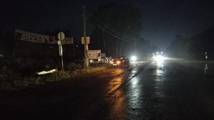 Неопытный водитель опрокинул «девятку» с двумя подругами на Гусинобродском шоссе