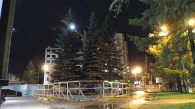 Деревья или бронзовая фигура? Зачем в Архангельске вырубили здоровые 50-летние ели