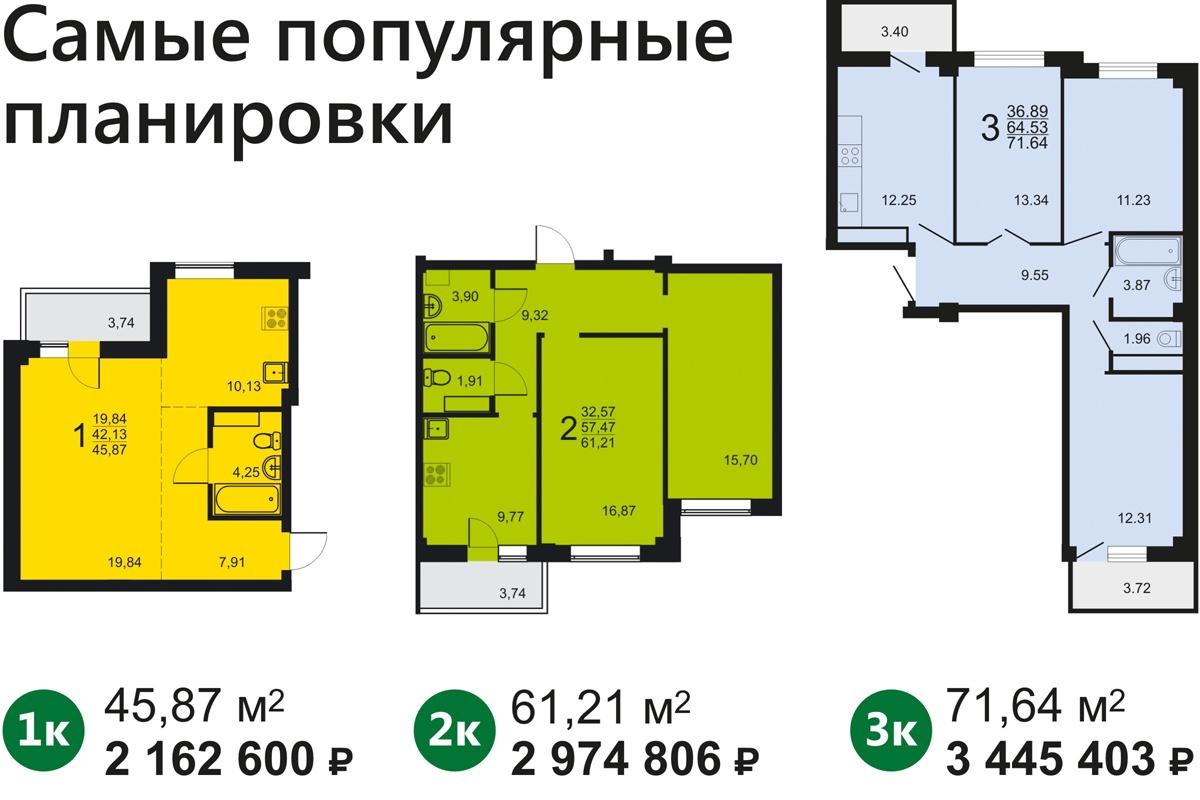 Даже в однокомнатной квартире найдется место для всех членов семьи