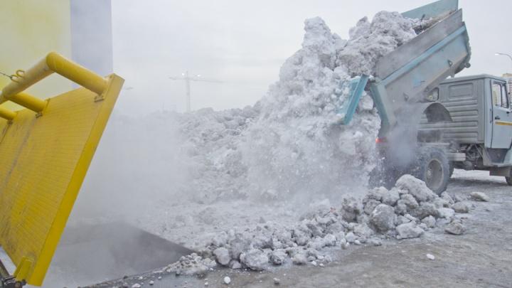 Снег нечем плавить: власти запланировали ещё 8 снегоплавильных станций