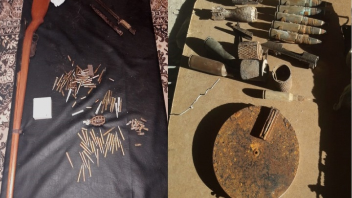 «Весь набор брал для себя»: в Волгоградской области нашли боевой гараж с винтовкой и пулеметом
