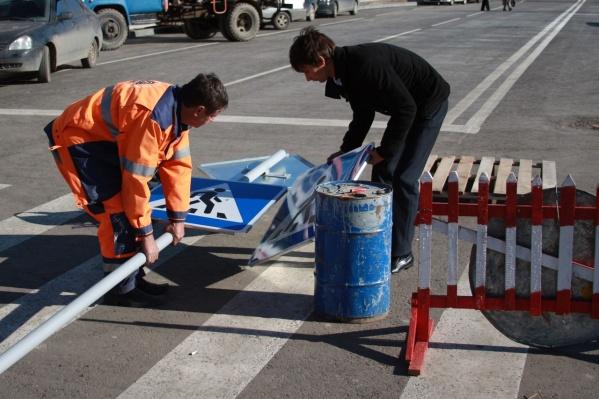 Новые знаки установят на улице Калинина в ночь на 19 ноября