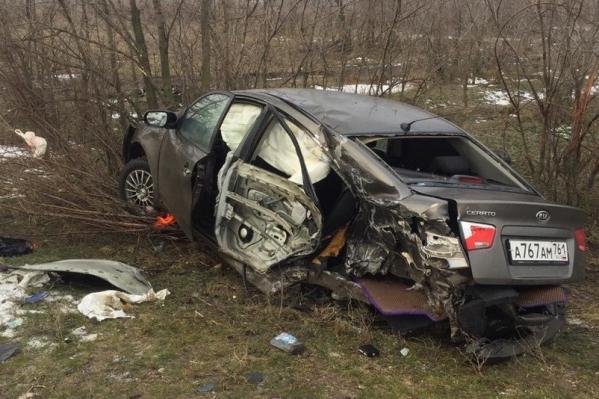 Авария произошла в Мартыновском районе