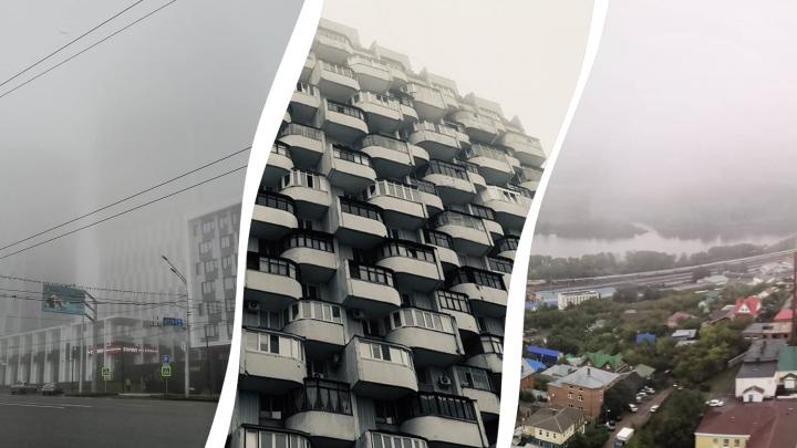 Непроглядная мгла: как Башкирия вглядывалась в утренний туман