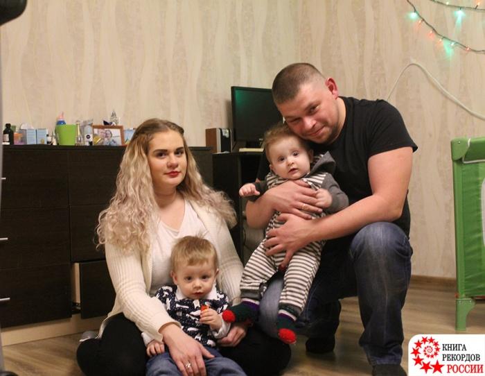 Семья Прокиных с сыновьями-рекордсменами