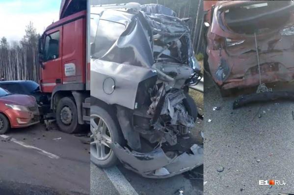 Автомобили получили очень серьезные повреждения