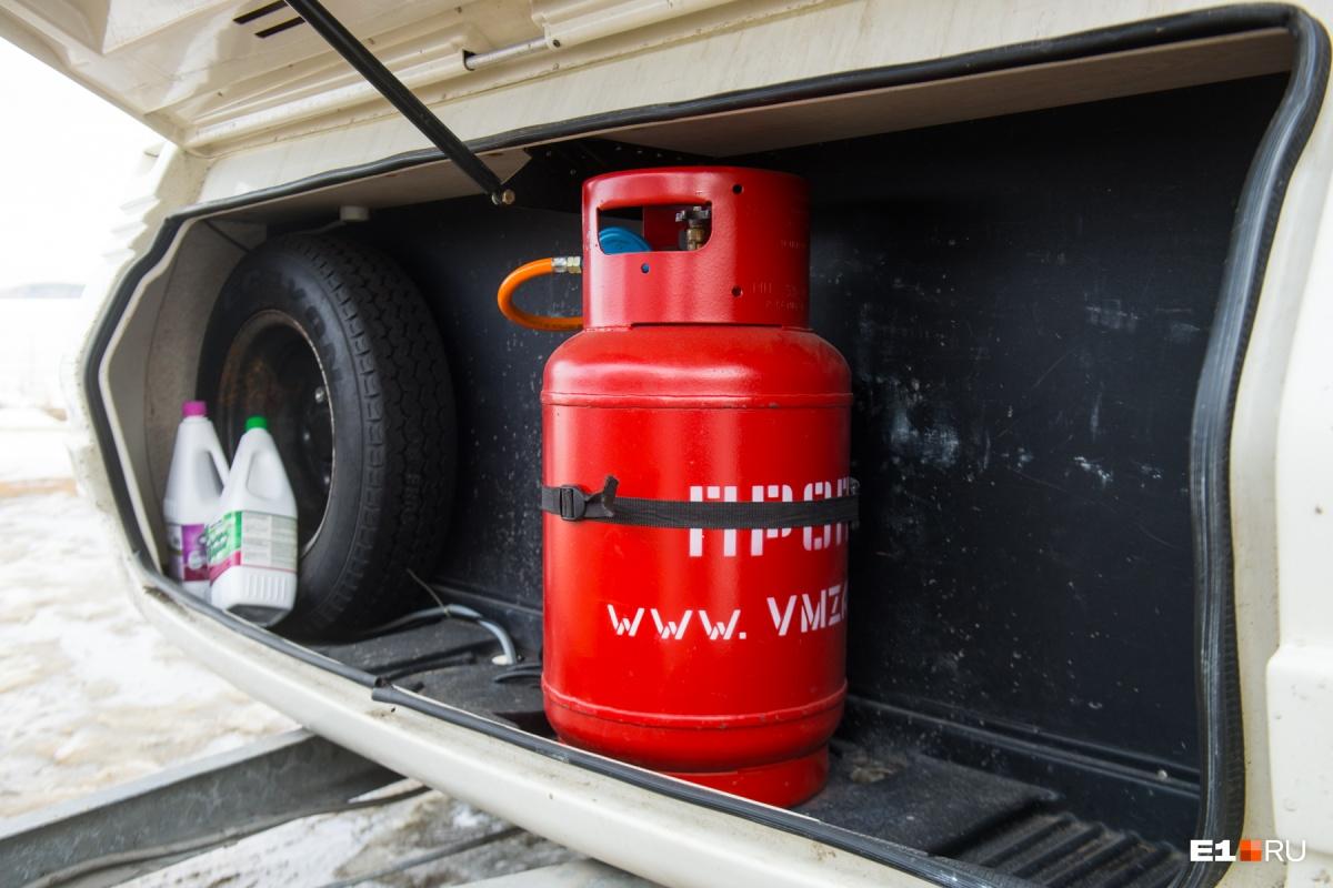 Тепло в трейлере от газа