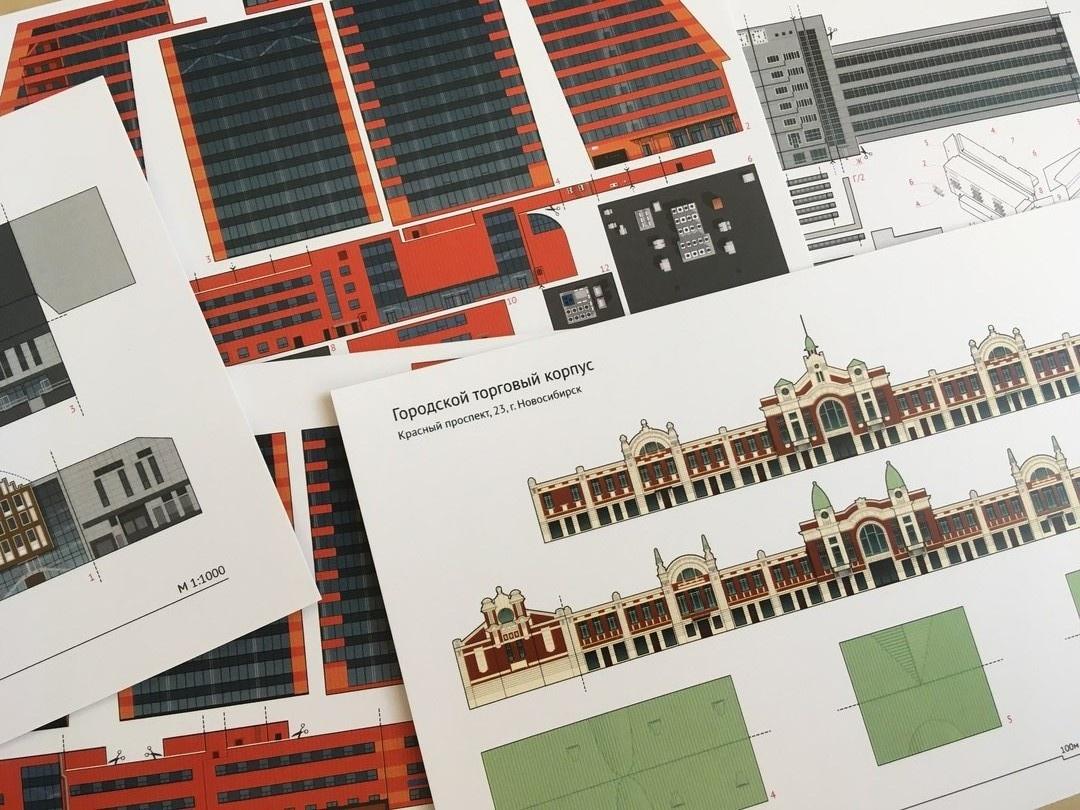 Создавать эти открытки новосибирские архитекторы начали три года назад, но сначала дарили их только друзьям
