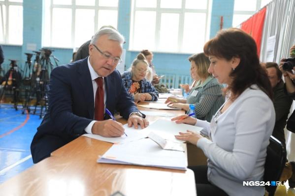 Александр Усс победил практически на всех участках в крае