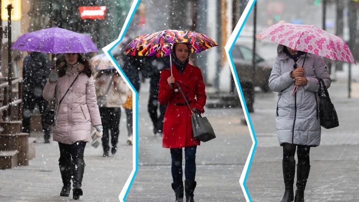 Ростов-на-Снегу: жители города спасаются под зонтами — фотопрогулка 161.RU