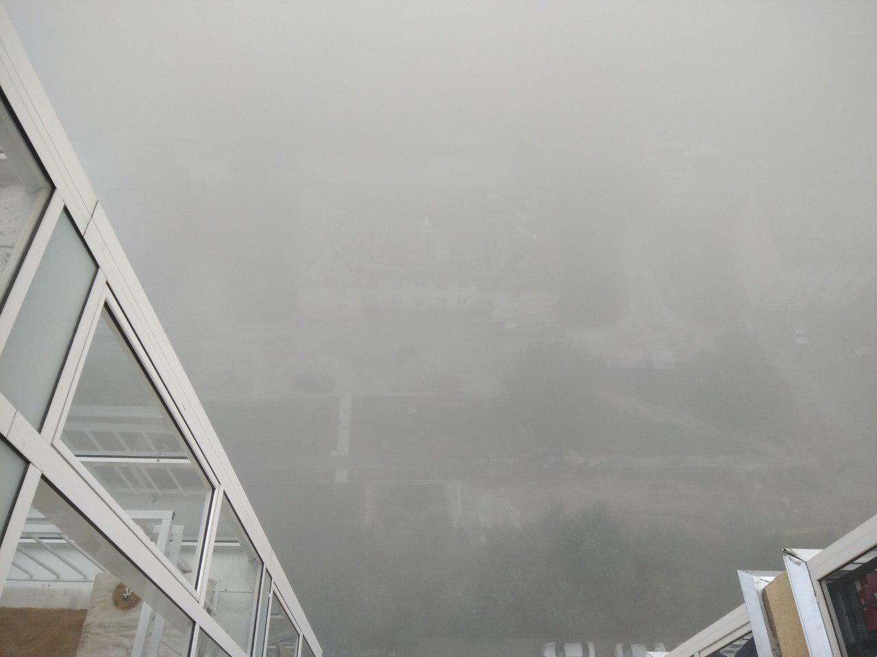 Вид очень завораживает. Будто над облаками