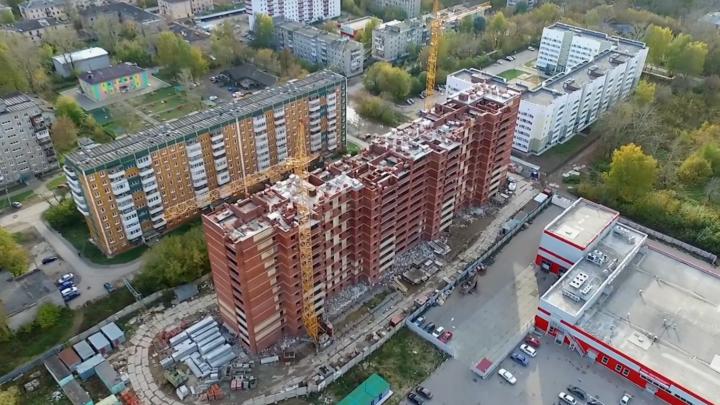 В Перми застройщик возводит жилой дом без разрешения