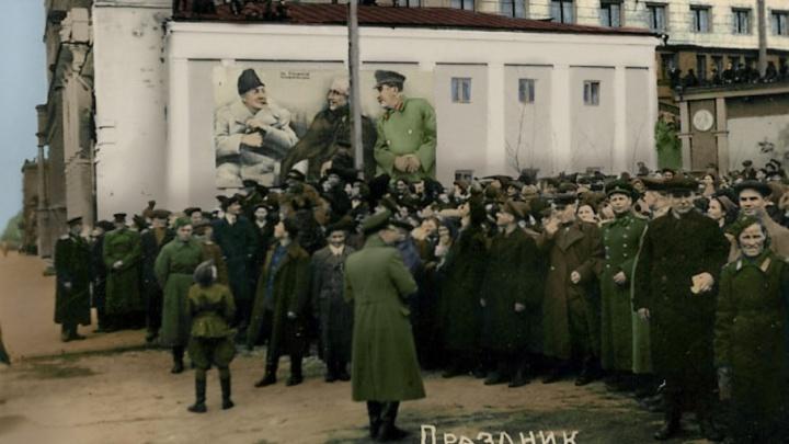 Цвет нации: 74.ru раскрасил чёрно-белые снимки военного Челябинска