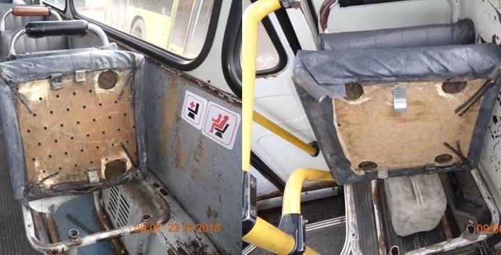 Сломанные сиденья и грязь: названы худшие автобусы месяца