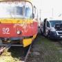 В Волжском маршрутка протаранила трамвай