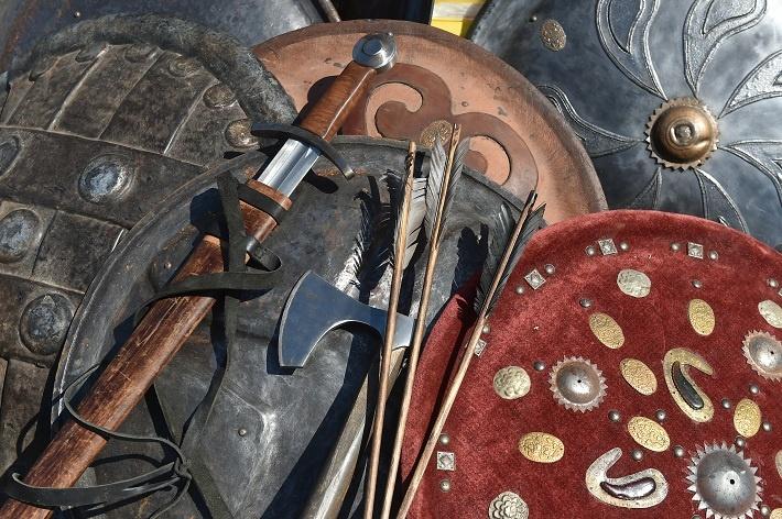 Оружие выглядит также, как в XV веке