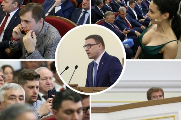С отчётом в подобном формате Алексей Текслер впервые выступил перед депутатами. Получилось странно...