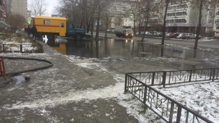 На улице Репина разлилась коммунальная река