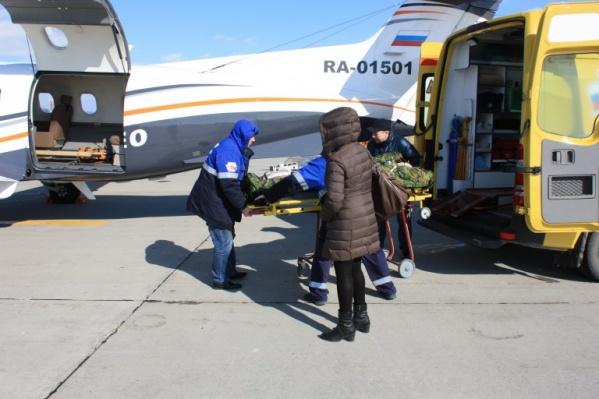 Вертолёт санавиации доставил Илью 20 марта в Красноярск