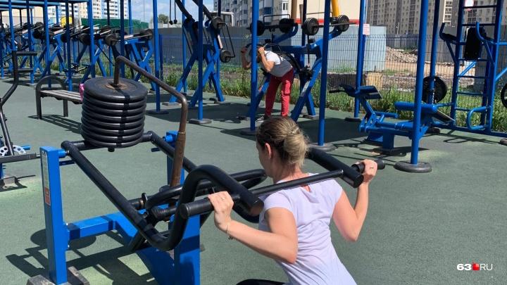 Фитнес на свежем воздухе: в Куйбышевском районе установят уличные тренажеры