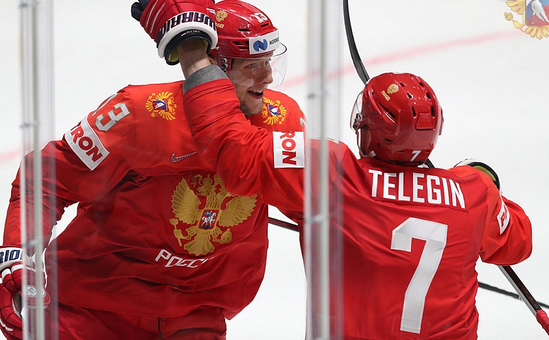 Шесть шайб за период: российская сборная разгромила команду Швеции наЧМ по хоккею