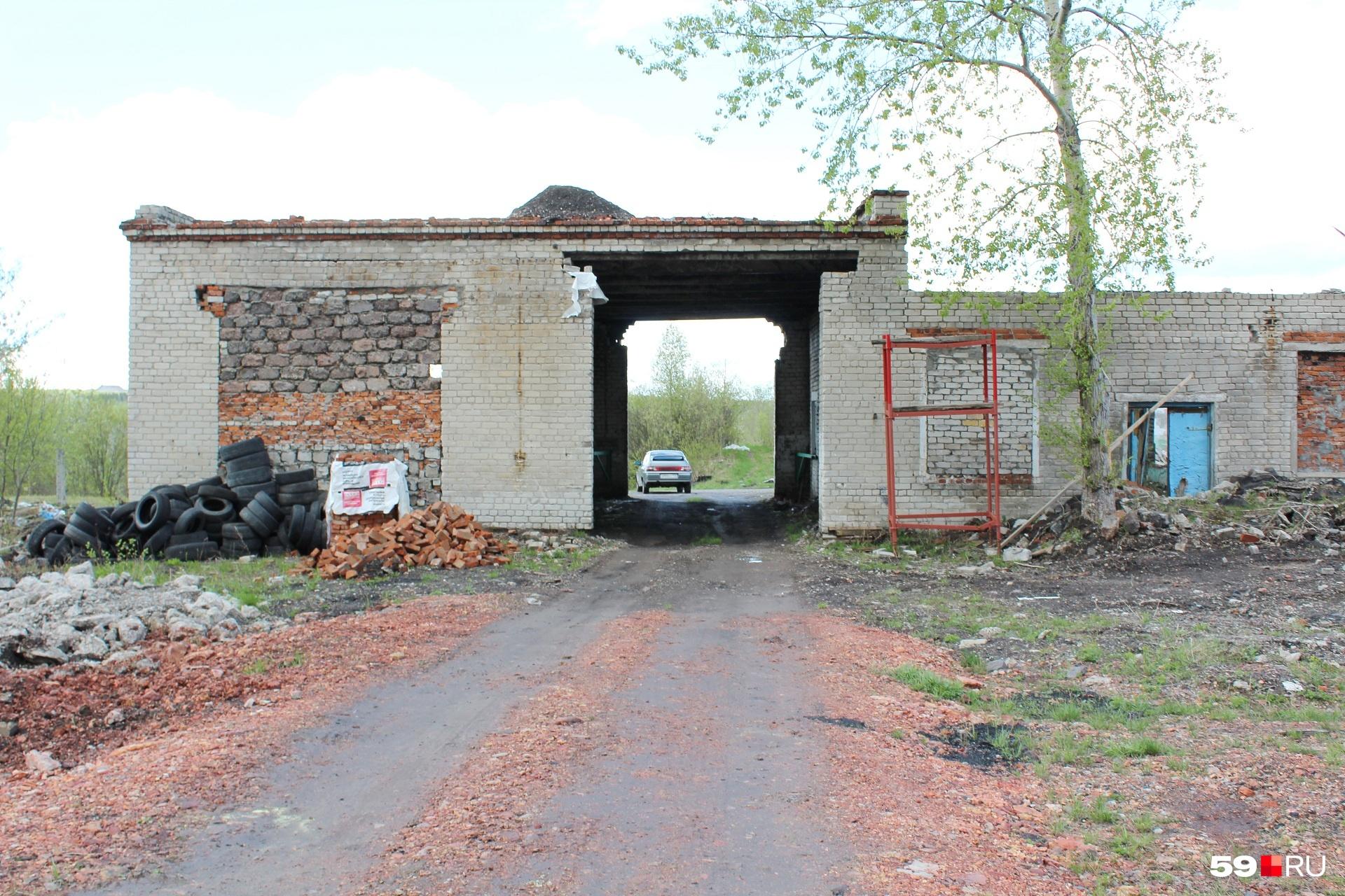По дороге к развалинам завода