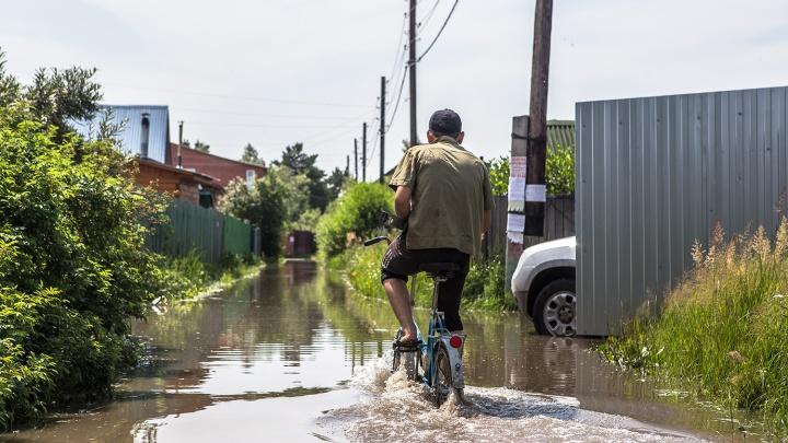 Вторая волна половодья угрожает сотням дач в Новосибирске