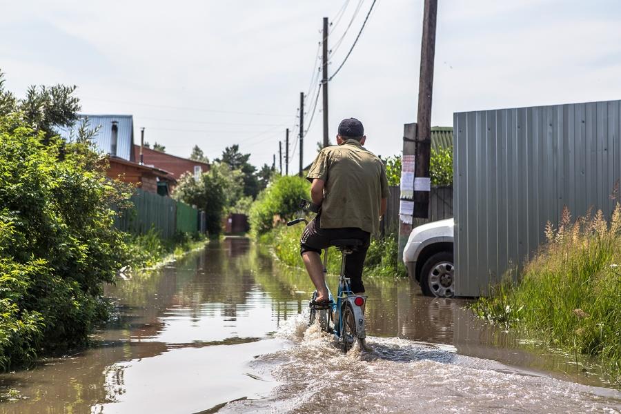 Вода зашла на28 участков садового общества «Геолог» вНовосибирске