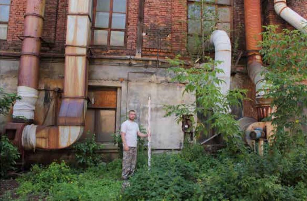 Место шурфа 3 во дворе завода – тут нашли больше всего объектов