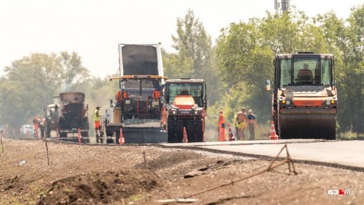 Дорогу около Яблоневого Оврага под Самарой отремонтируют за год