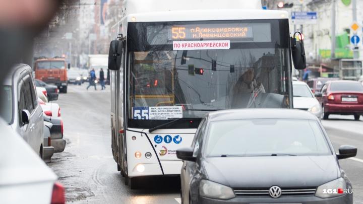 В Ростове временно изменят схему движения автобуса № 55