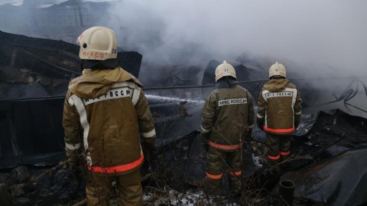В Башкирии третий день пытаются установить личности погибших в огне в деревне Дмитриевка