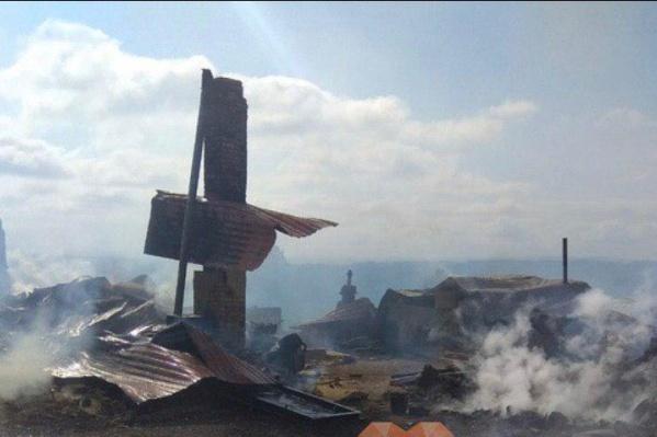 Некоторые дома оказались разрушены полностью